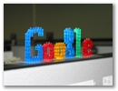 Google Logo in Pixelblocks
